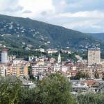 Una veduta della città di Lavagna