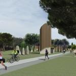 Una simulazione del nuovo parco urbano