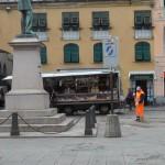Artisti in strada in Piazza Mazzini a Chiavari