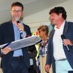 Il consigliere Bernardin con Fabio Fazio
