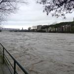Il fiume Entella in piena qualche giorno fa