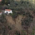 La frana di Libiola e le case minacciate
