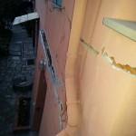 Le crepe visibili a Villa Fontane