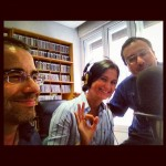 Carolina Varsi negli studi di Radio Aldebaran
