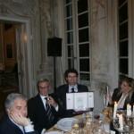 Il premiato nella serata di Villa Durazzo