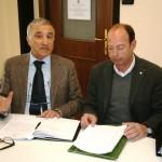 Sandro Garibaldi con il sindaco Roberto Levaggi