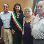 Enrica Sommariva e la giunta comunale di Cogorno