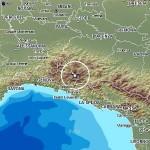 Terremoto nella notte (immagina del sito ingv)