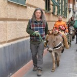 Massimo Montanari con i suoi asini a Santa Margherita