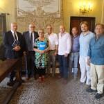Foto di gruppo dopo la presentazione