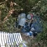 I rifiuti trovati stamattina dagli attivisti del M5S