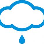 nuvoloso con pioggia meteo