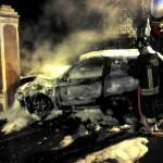 L'auto è bruciata tra Sestri e Lavagna (reepertorio)