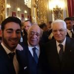 Squadrito con il Presidente Mattarella
