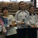 Mattia, Sara ed Isabella, bravissimi in matematica