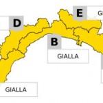 Allerta meteo gialla su tutta la Liguria