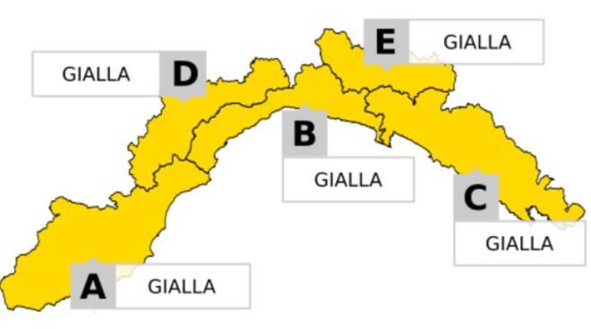 Prorogata allerta gialla in Liguria