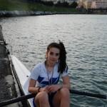 Beatrice Aresi con la medaglia al collo