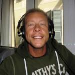 Christian Gastrini negli studi della radio