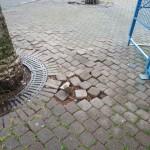 La pavimentazione dissestata