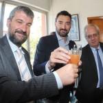 Maurizio Felugo tra i sindaci di Sori e Recco