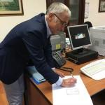 La firma del sindaco Roberto Levaggi