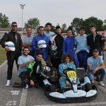 Il gruppo sulla pista di Pomposa