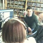 Nicola Orecchia negli studi della Radio