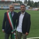 Gennaro Volpe con il sindaco Roberto Levaggi