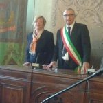 L'ex assessore Mignone con il sindaco Levaggi