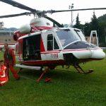 Per il recupero intervenuto anche l'elicottero
