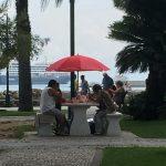 Simil - campeggio alla scacchiera del fronte mare