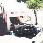 L'esposizione della Fiat in piazza Mazzini