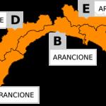 Allerta meteo arancione domani su tutta la Liguria