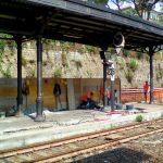 I lavori in corso in stazione a Santa