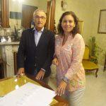 I sindaci Roberto Levaggi ed Enrica Sommariva