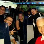 Salvo Agosta ed il gruppo in viaggio