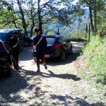 I carabinieri stamattina nei boschi di Craviasco