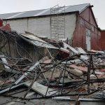 Il crollo ai cantieri Sangermani di Lavagna