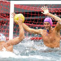 Waterpolo by the sea