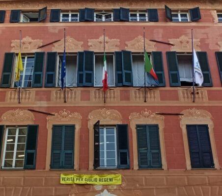 comune Sestri Levante bandiere mezz asta