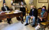 Foto Nerio Bergesio e Valeria Corciolani con Sindaco di Chiavari