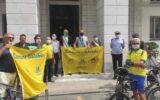 Consegna bandiere Comune Ciclabile