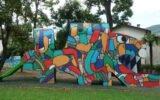 Parco del Flauto Magico uno dei giochi disegnati dal Maestro Lele Luzzati